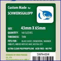 Swan Panasia Sleeves - Mini Chimera thin (43x65mm) tebal 40mic, 160pcs