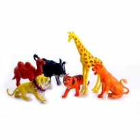 MOMO Happy Animal World 3002 Kantong 6 Pcs Ages 3+ - Mainan Hewan Kantong