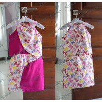~Cutevina~ Ficalica Girl Ribbon Tee and Skirt Set FC0015 /Setelan anak