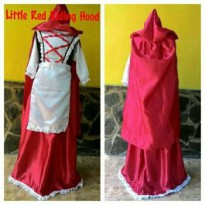 Kostum Dress Little Riding Hood Size Besar