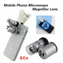 Universal Clip 60X Zoom Microscope Camera Lens With LED & UV