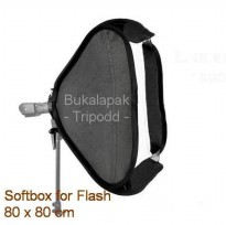 Foldable Softbox 80x80cm for Flash type 2