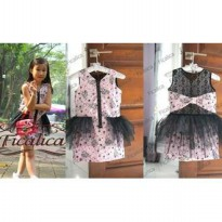 ~Cutevina~ Ficalica Sleeveless Lace Dress Gaun anak(FC0023)