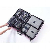 7 in 1 TRAVEL SEASON Tas Travel Bag in Bag Organizer 1set isi 7pcs