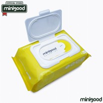 minigood TERBARU tissue pembersih cleansing wipes lembut natural mild formula lemon extract 80Pcs