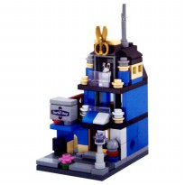 Sembo Block BARBER SHOP Toy City Series Mainan Edukatif Anak Lego Bloc