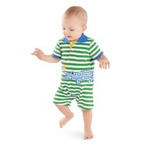 Mudpie Safari Alligator Polo One-Piece #1032119