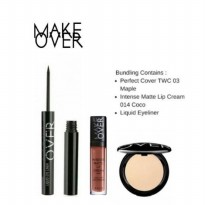 ORIGINAL - Make Over Two Way Cake + Intense Matte Lip Cream + Liquid Eyeliner [Bundle]