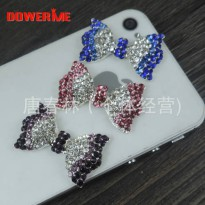 [globalbuy] DOWER ME brand Crystal Color Candy 3D Mobile Phone Decorations 3D Alloy Sticke/5424936