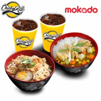 Chick'n Roll - Paket Kenyang ber-2 (1 Udon   1 J Curry   2 Ice Tea )