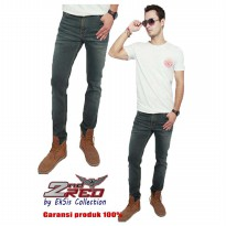 2Nd RED Jeans Slim Fit terlaris/Celana Jeans Slim Fit pria/Jeans Slim Fit Denim-abu tua 133223
