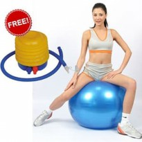 BONUS Pompa angin ] Gym ball size 65cm Bola fitness Yoga ball