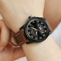 Jam Tangan Pria Naviforce Nf-9124 Black Brown Original