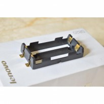 2x18650 2 x 18650 battery holder tempat baterai smd keystone hexohm