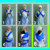 Gendongan Bayi Hanaroo Simple Wrap 2 in 1 Baby Wrap Ins