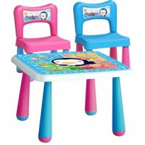 Puku Petit Children Table(1 Meja & 2 Kursi)
