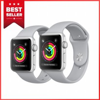 Apple Watch Series 3 GPS - 38mm Silver Aluminum Case Fog Band - Garansi Resmi Apple
