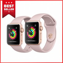 Apple Watch Series 3 GPS - 38mm Gold Aluminum Case Pink Sport Band - Garansi Resmi Apple