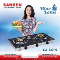New SANKEN KOMPOR GAS 3 TUNGKU TEMPERED GLASS