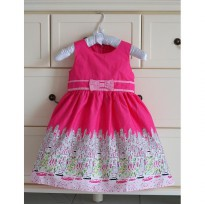 ~Cutevina~ Sleeveless Pink Dress / Gaun anak