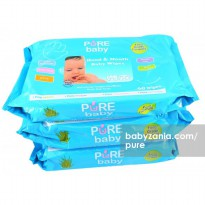 Pure Baby Hand & Mouth Wipes 60's Aloe Vera Buy 2 Get 3