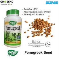 [Limited Offer] Nature's Way Fenugreek Seed 180 kapsul, Booster ASI