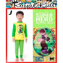 PJRK4J - Pajamas Royal Kids Ben-10 Yellow Green