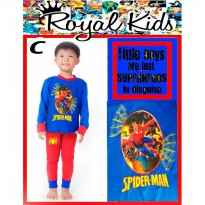 PJRK4C - Pajamas Royal Kids Spiderman Blue