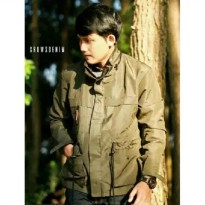 [Crows Denim] Jaket Parka Light Green SK-116