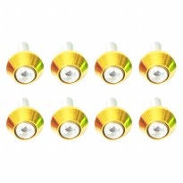 RajaMotor Baut L Variasi Ring Almunium 6mm Warna-2 Set (8 Pcs) (BVA9155)