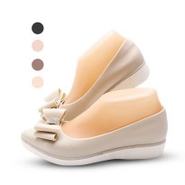 Ribbon Pointed Flat Wedges | Sepatu Wanita - Jelly Shoes Slip On