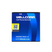 Wellcomm Battery Double IC Untuk Smartfren Andromax U