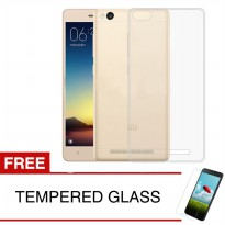 Case for Xiaomi Redmi 4X - Clear + Gratis Tempered Glass - Ultra Thin Soft Case