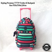 Tas Trolley Backpack Kipling Premium Import