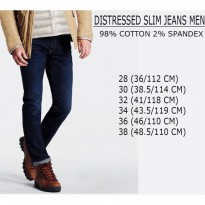 BRANDED CELANA JEANS PRIA - DISTRESSED SLIM JEANS MEN