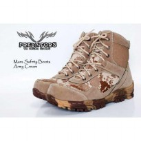 sepatu boot safety predator army mars cream ukuran 39-44