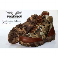 sepatu boot safety predator army neptunus tan ukuran 39-44