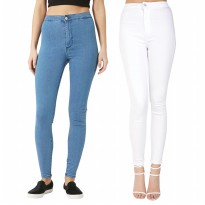 Celana Soft Jeans High for women