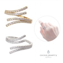 Korea Cocoa Jewelry Wishful Ring - Cincin Silver / Gold Color - No Box