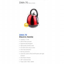 New DENPOO Electric Kettle 1.7 liter - DMA70