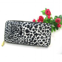 Good Quality Leopard Wallet Purse Handbag Clutch Elegant Stylish BLACK