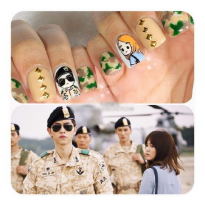 Sticker Kuku Nail Art DOTS Song Joong Ki Song Hye Kyo Nail Art