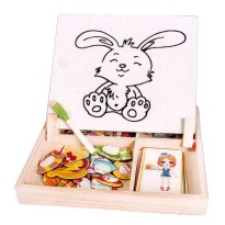 PMA - Mainan Edukasi Kayu Kitchen Puzzle Magnetic Set