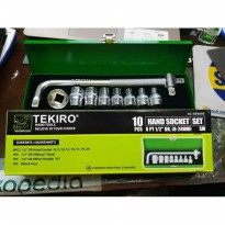KUNCI SOK SET 10 PCS TEKIRO BOX BESI SOCKET WRENCH 10PCS