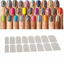 [NAIL ART] 0147ACr Korean Fashion Flowers Lace Decal Manicure Tip Nail Art Sticker (Silver Color) General