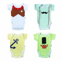 KAZEL BODYSUIT BOY/ JUMPER BAYI MOTIF BOY 4IN1