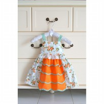 ~Cutevina~ Floral cotton dress (RK9206) Gaun anak bunga-bunga
