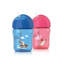 Botol Minum Avent Straw Cup 260mL 12M+