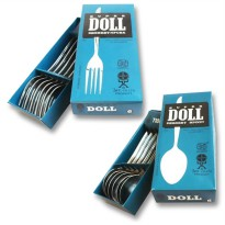 [BEST SELLER] Sendok / Garpu Makan SUPER DOLL Stainless Stell / 6Pcs / SUPER DOLL