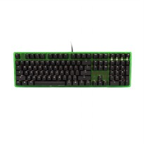 Ducky ONE DKON1508S-RUSADAGW2 Full Size White LED Red Switch Gaming Keyboard [Frame Green Transparan